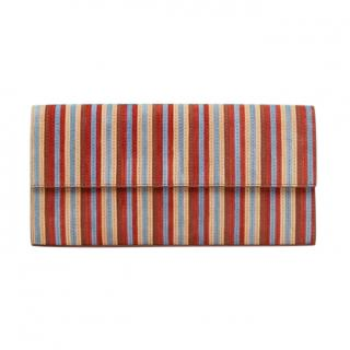 DVF Multicoloured Striped East West Clutch