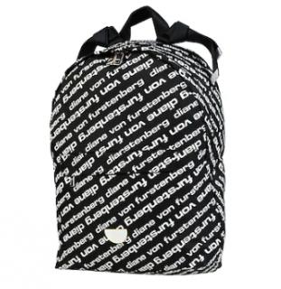 DVF Black & White Logo Print Backpack