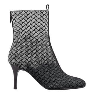Bottega Veneta fabric and leather heeled ankle boots