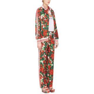 Dolce & Gabbana Portofino-print Cady Jogging Pants