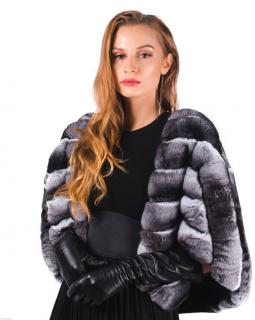 FurbySD ethically sourced ranched chinchilla jacket -