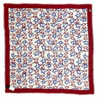 Gucci Ghost Stars Modal/Silk scarf