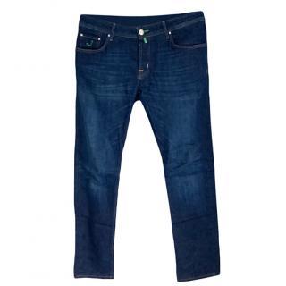 Jacob Cohen Mens 622 Blue Jeans