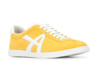 Aquazzura Yellow Suede The A sneakers