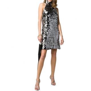 Galvan Gemma sequin halterneck mini dress