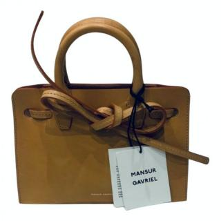 Mansur Gavriel Bow Tie Vegetable Tanned Tote Bag