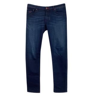 Jacob Cohen Red Contrast Stitch Blue 622 Jeans
