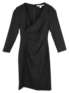 DVF Black Jersey Draped Eliana Dress