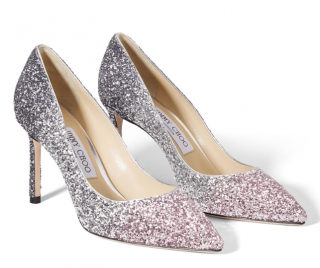 Jimmy Choo Ballet Pink/Silver/Anthracite Triple Glitter D�grad� Pumps