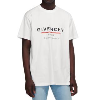 Givenchy White Logo Print Oversize T-Shirt