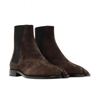 Maison Margiela Dark Brown Tabi Chelsea boots