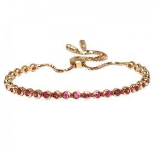 Cassidy Diamonds ruby tennis bracelet