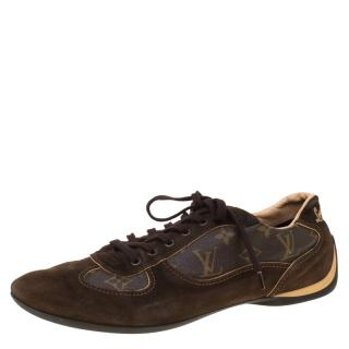 Louis Vuitton monogram canvas and suede men's classic sneakers