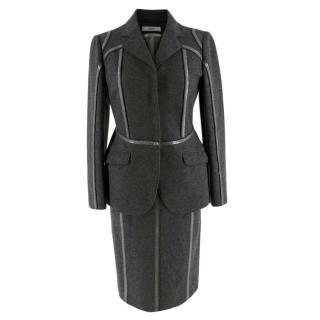 Prada Grey Wool Tailored Dress & Jacket
