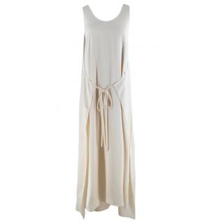 Rosetta Getty Ivory Tie Front Midi Dress