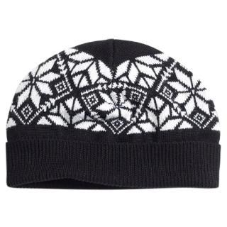 Brooks Brothers Black & White Fair Isle Knit Hat