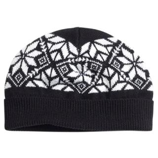 Brooks Brothers Boys Black & White Fair Isle Knit Hat