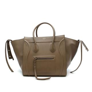 Celine Dune Drummed Calfskin Medium Phantom Bag