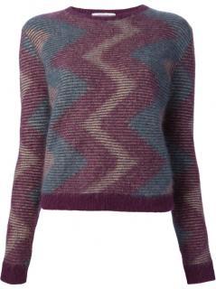 Carven multi coloured angora sweater