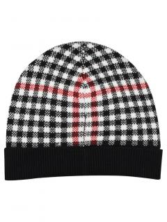Brooks Brothers girl's wool blend check hat