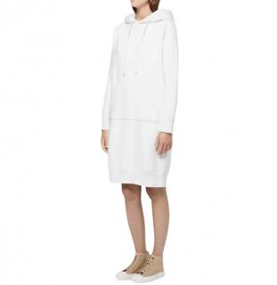 Mackintosh White Cotton Hooded Sweatshirt Dress