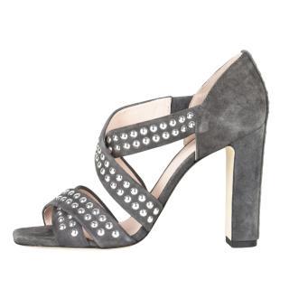Christopher Kane grey suede sandals
