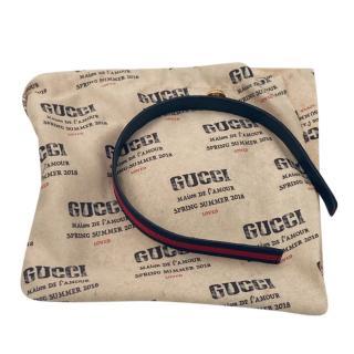 Gucci pebbled leather GG headband