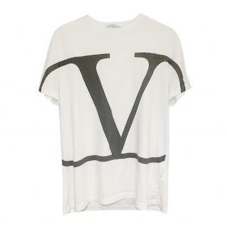 Valentino white logo T-shirt
