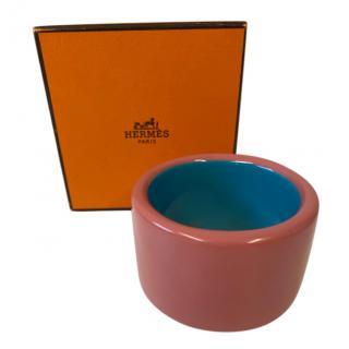 Hermes Assam Bois rose pink and blue bangle