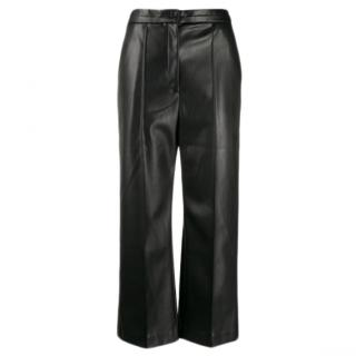 Chalayan Cropped Wide Leg Faux Leather Trouser.