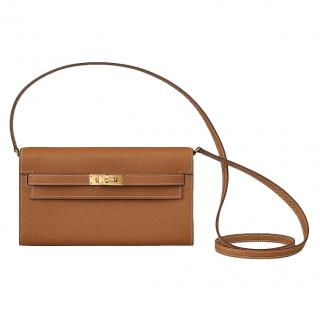 Hermes gold Epsom Kelly-to-go bag