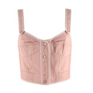 Louis Vuitton Vintage Nude Cotton Corset Top