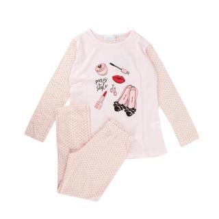 Story Loris Pink Cotton Long Sleeve Pyjama Set