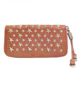 Jimmy Choo star studded zip around purse