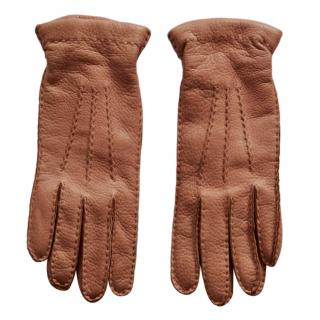 Ralph Lauren Collection cashmere lined leather gloves
