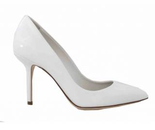 Dolce & Gabbana  white leather pumps