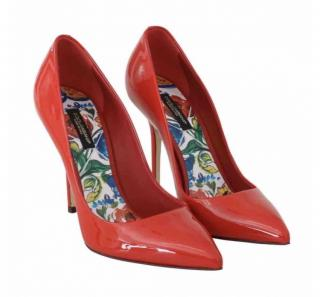 Dolce & Gabbana red patent pumps