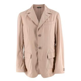 Miu Miu Beige Cotton Single Breasted Blazer Jacket