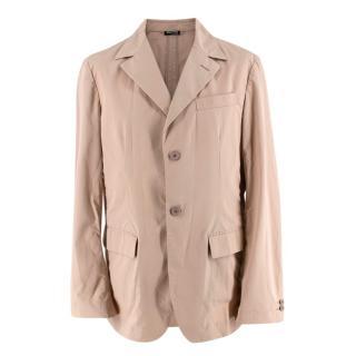 Miu Miu Beige Cotton Single Breasted Blazer Jacket