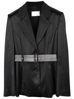 Peter Pilotto black stretch satin jacket
