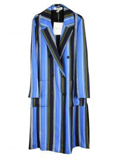 Diane von Furstenberg Stripe Silk Trench Coat