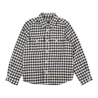 Bonpoint Grey Gingham Cotton Flannel Long Sleeve Shirt