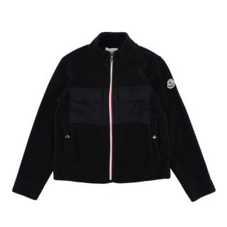Moncler Children's Black Fleece Zip-Up Jacket