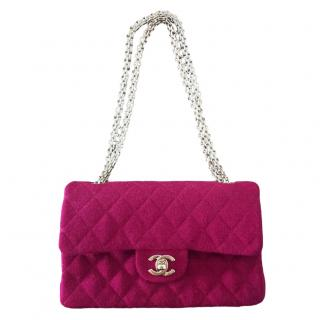 Chanel Vintage Pink Jersey Medium Timeless classic double flap bag