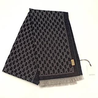 Gucci Reversible Monogram Wool Scarf