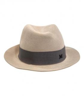 Maison Michel Beige Wool Felted Hat