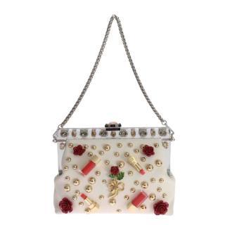 Dolce & Gabbana Studded Embellished Vanda Shoulder Bag
