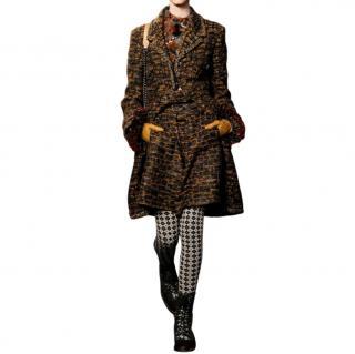 Chanel Paris/Edinburgh Blue & Yellow Tweed Skorts