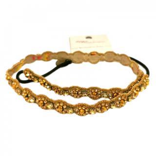 Deepa Gurnani Crystal Embellished Gold Tone Headband