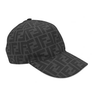 Fendi Grey Monogram FF Cap